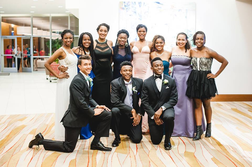 Students at prom in 2016.