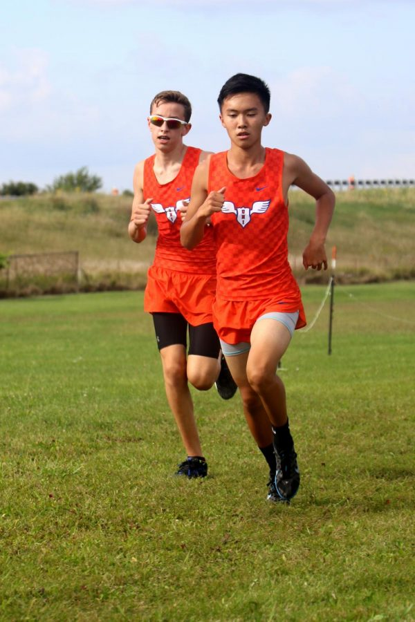 Henry Laufenberg (left) and Brooks Hu (right) competing at Paxton.